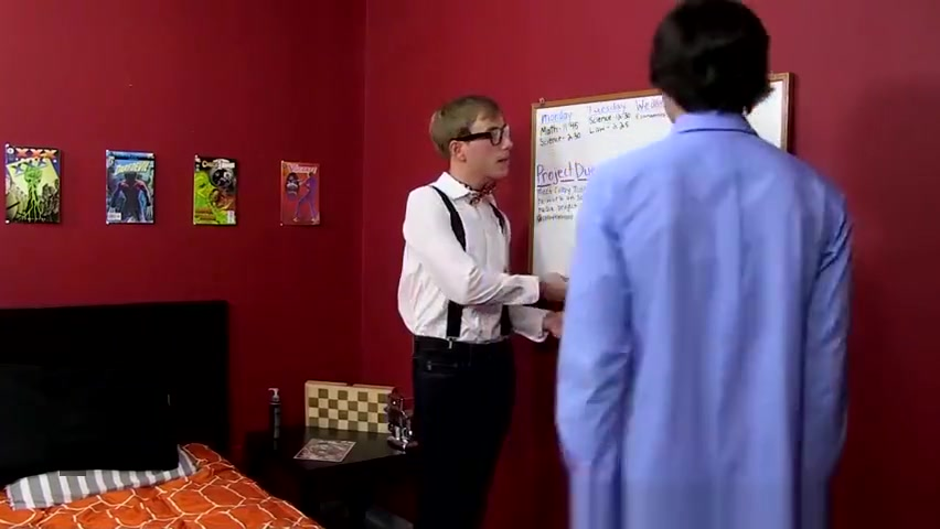 Sexy twink JR Adams gets an unscheduled romp from Scott sexy and naked boy