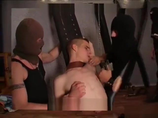 Boy used/humiliated maids play with double dildo 3