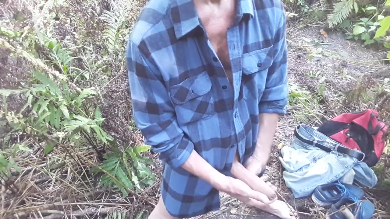 Afternoon second edging session near the small creek (half naked) #3 Chelsea fucks her friend