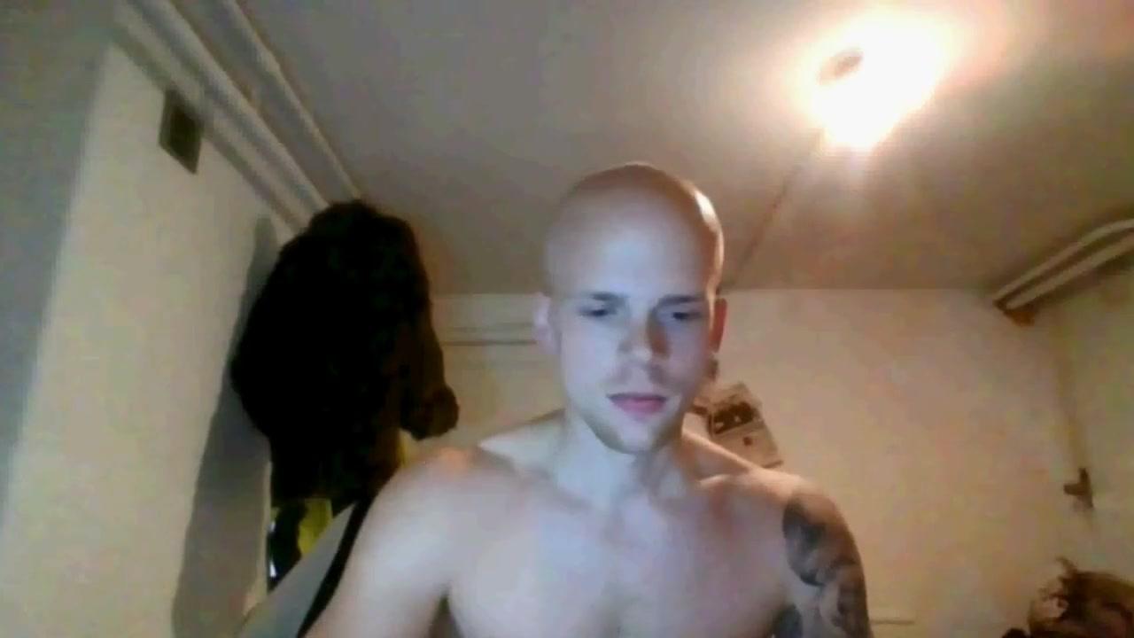 Bald Dude Jerks Off on Cam Sex Skype cum cum gif anal amateur