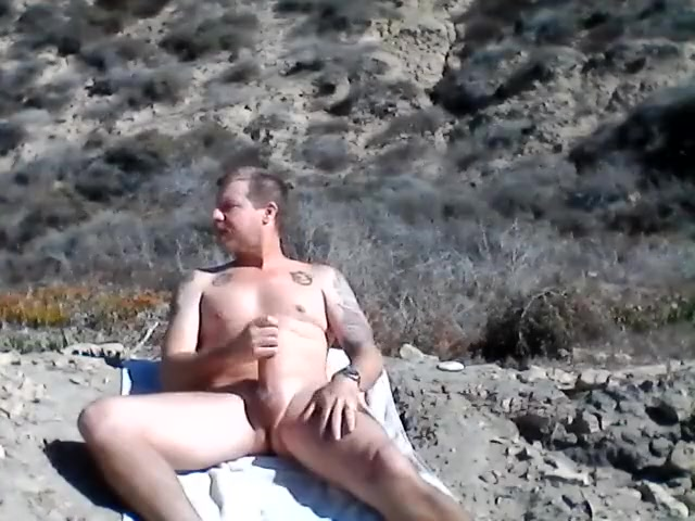 Stroking my cock at the beach. the girl next door uncensored