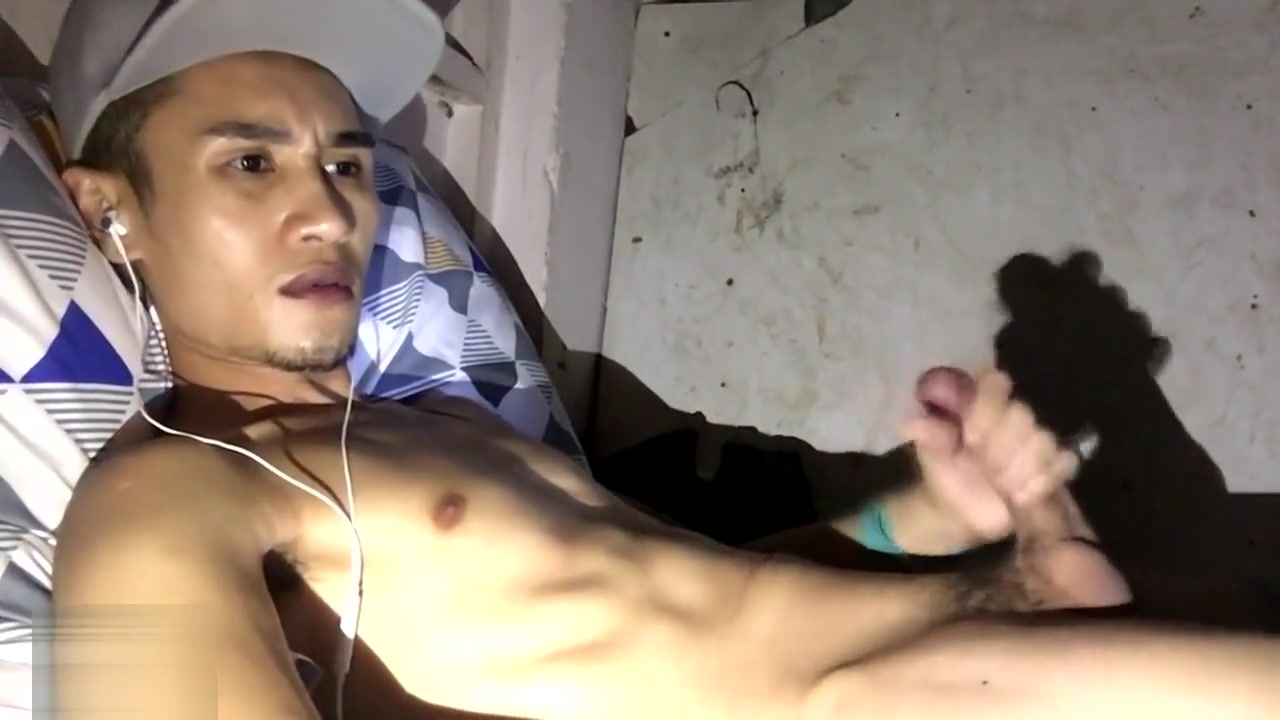 Filipino Boy Jerking Off and Cumming on Webcam Blonde practice dildo