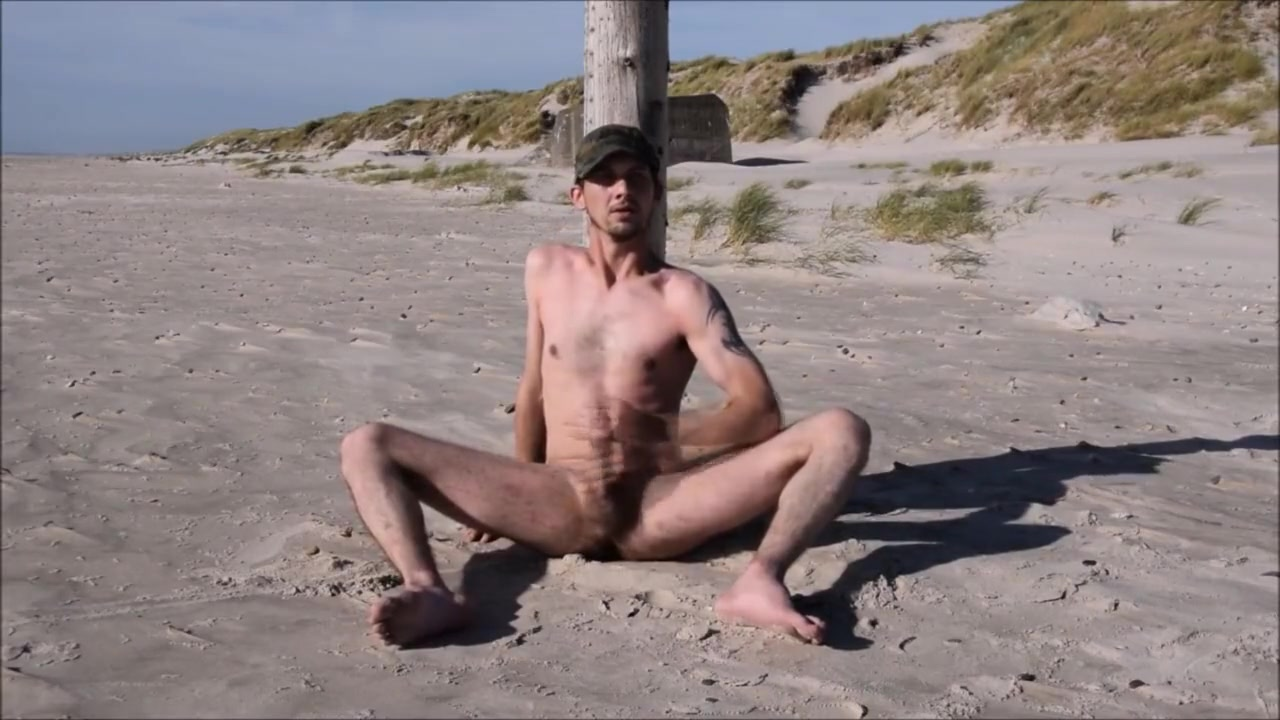 A day on the Beach Gay men leather pants