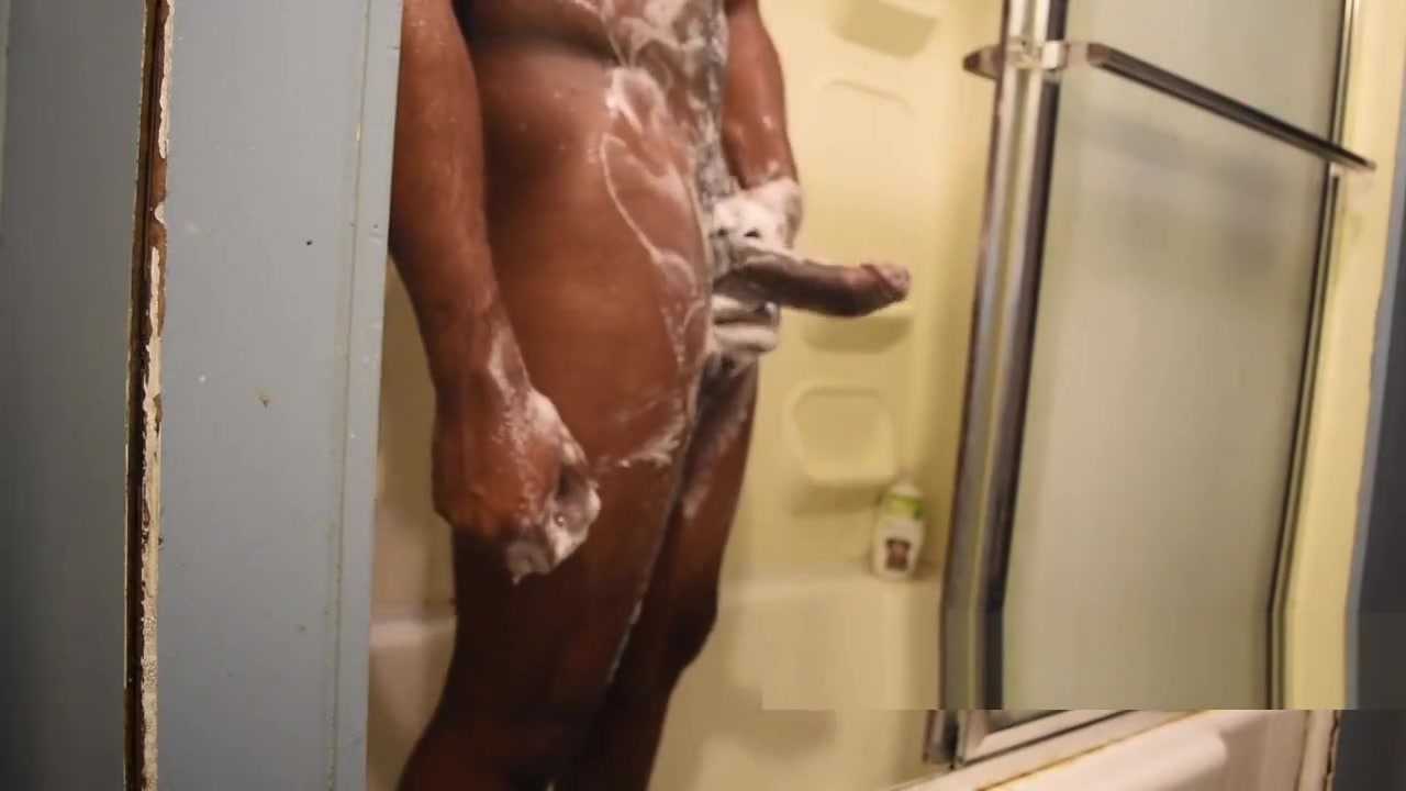 Stroking BBC in the Shower Japanese uncensored sex movie