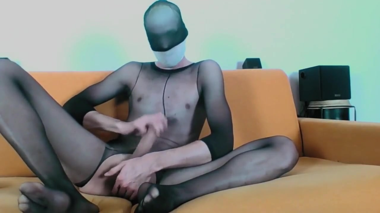 YOUNG GUY IN SHEER BODYSTOCKINGS MASTURBATE AND CUM ON FEET sluts in heels