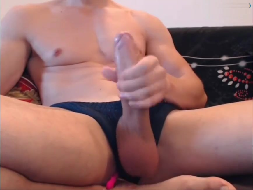 Hunk playing with his white monster cock on cam Mature hot wife pictures