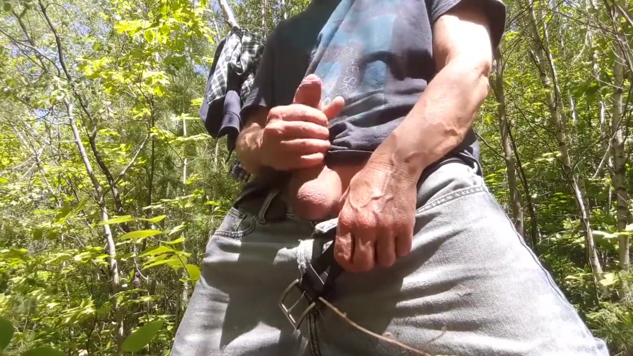 Hot edging session in the wood #2 Poppa chubby gay