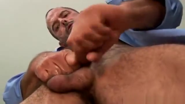 Hairy bear jerks hard cock Clitoris and steroids