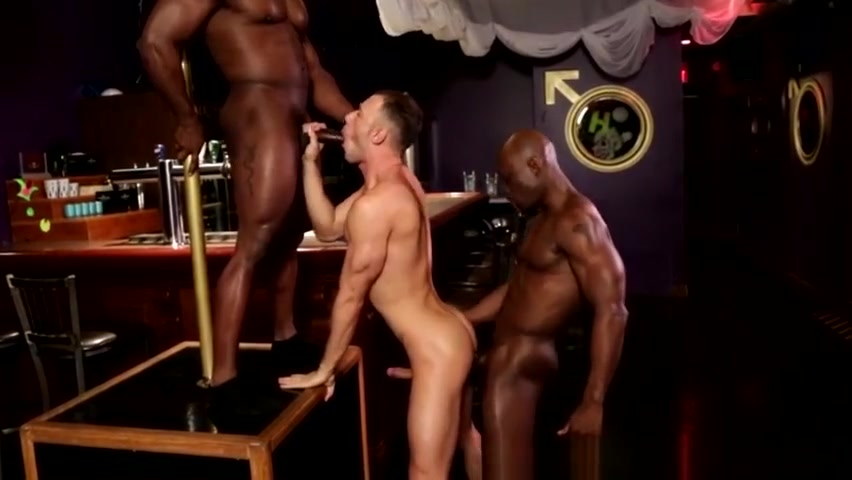 Interracial anal threeway with ripped ebonys Big mature hips nude