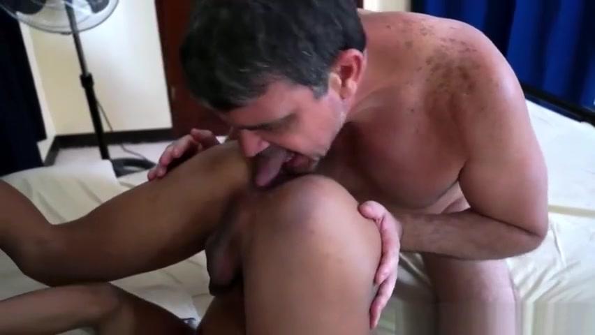 Daddy Barebacks Asian Twink Javey Interracial big cock threesome