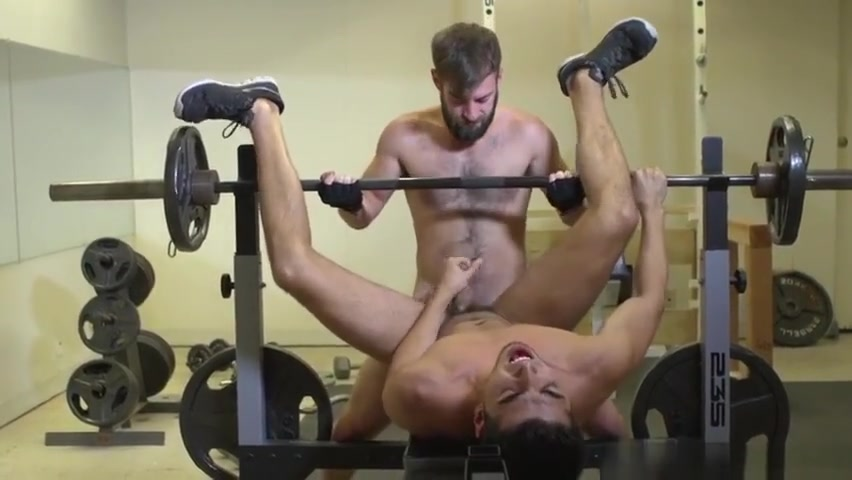 Athletic jocks assfuck on bench press porn black dick gay