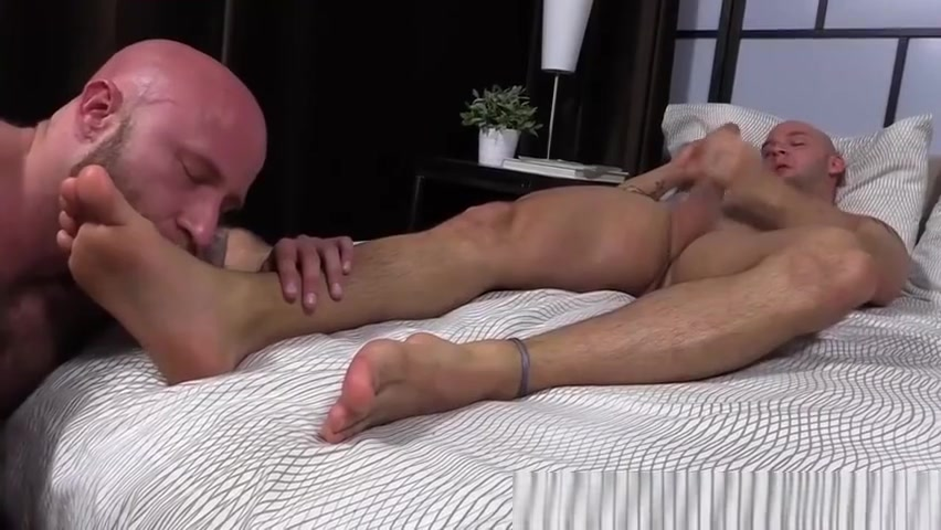 Two bald guys love to lick feet and jerk off hard for cum Candy girl shay porn