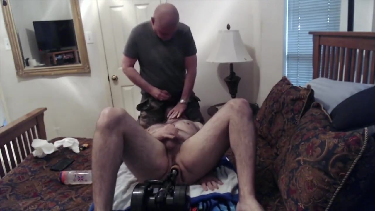 ISOBottomBoi Gets Sucked while fucking me with the fuck machine Boobs tits pussy showing huge
