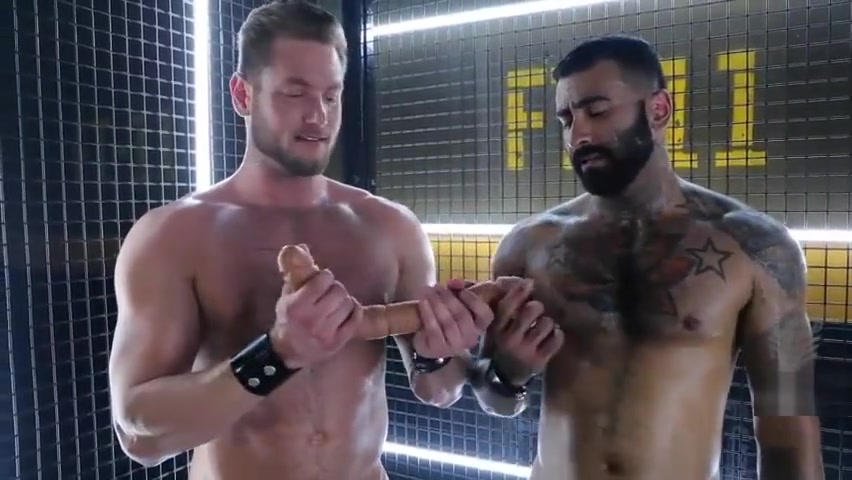 Ace Era, Rikk York, and the FORT TROFF DOUBLE DONG KIT Gay porn auditions in l a