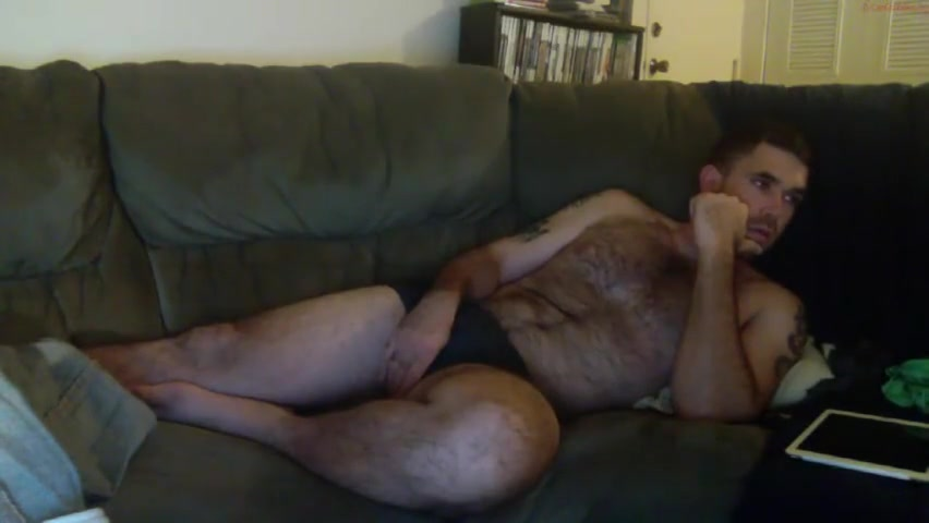 Hairy bear playing with himself on sofa Games like sexy chat with blanca