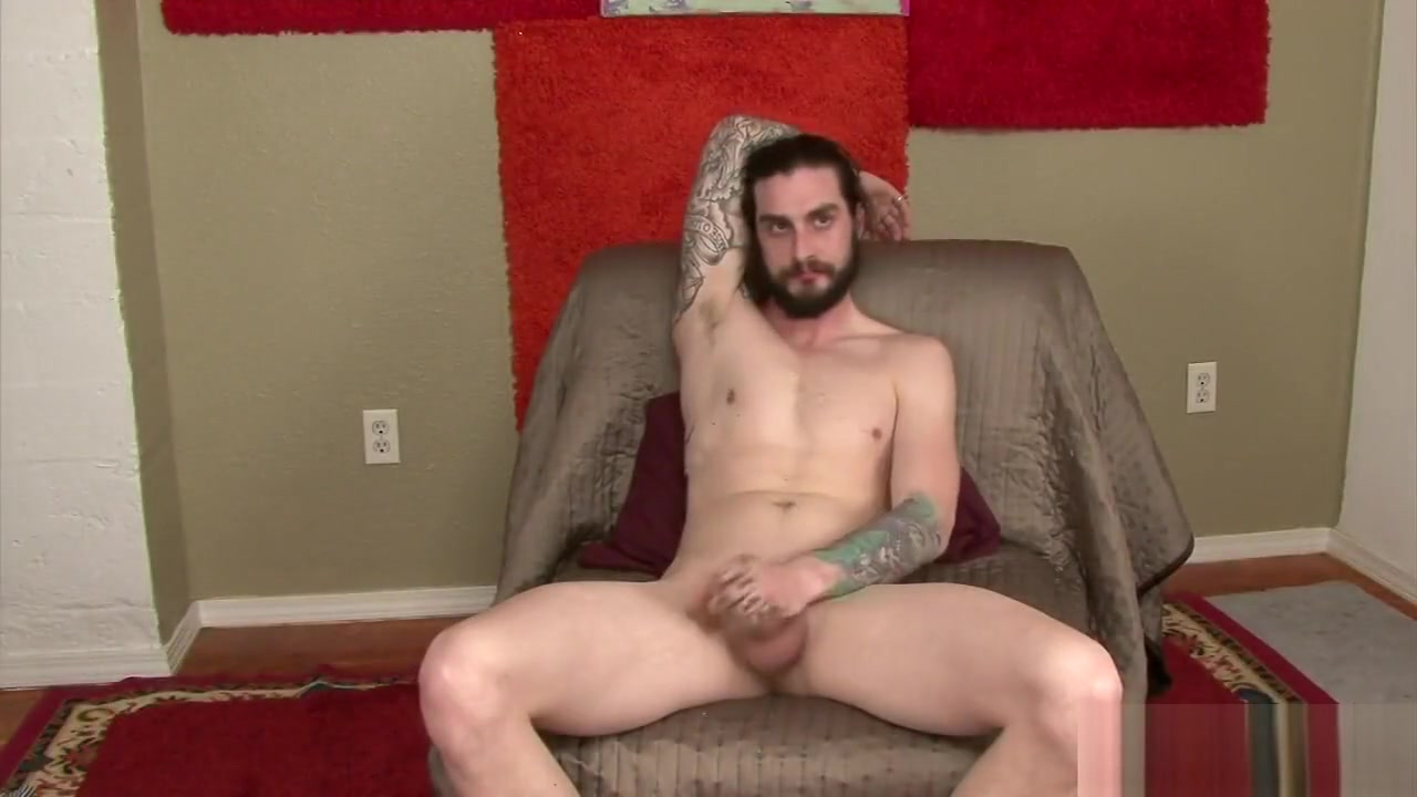 Straight handsome tattoo with gay older Dark haired shaven pussy