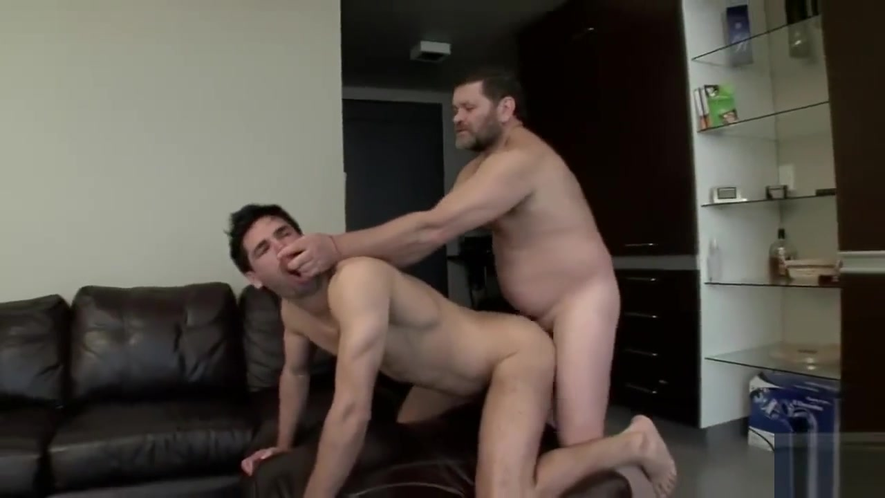 Hairy Grandpa enjoys an intense dirty sweaty fuck with a young twink Working out with a large meatballs darling