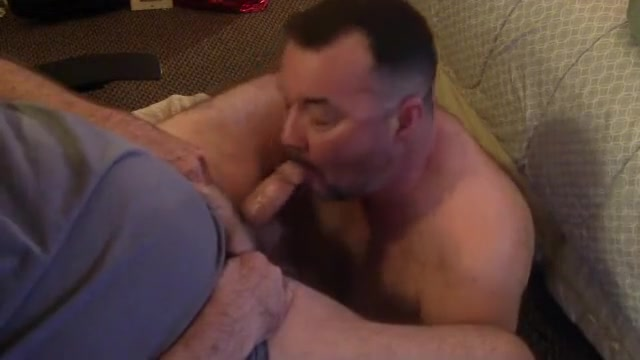 Daddy got verbal and fed me a load. big black dick nut