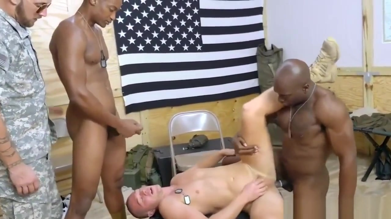 Suck and swallow my black gay dick first time Staff Sergeant knows what Free naked threesome