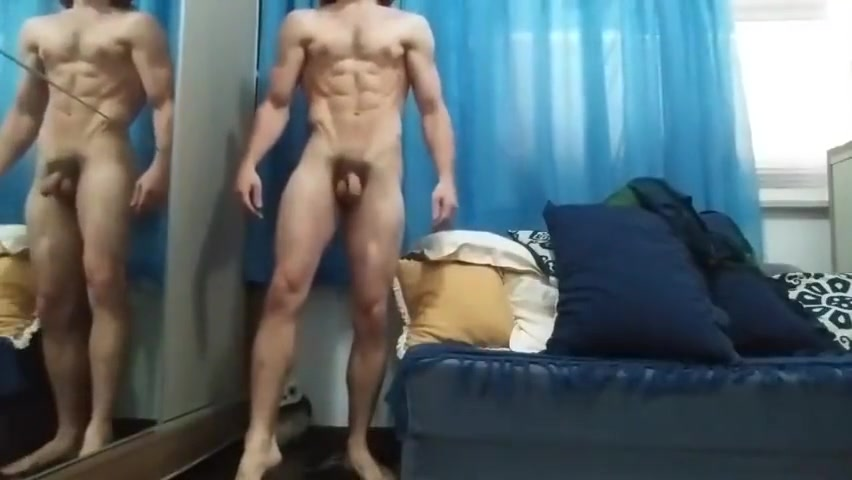 Naked Full Body Show From GrantasFlexing Large tits strip