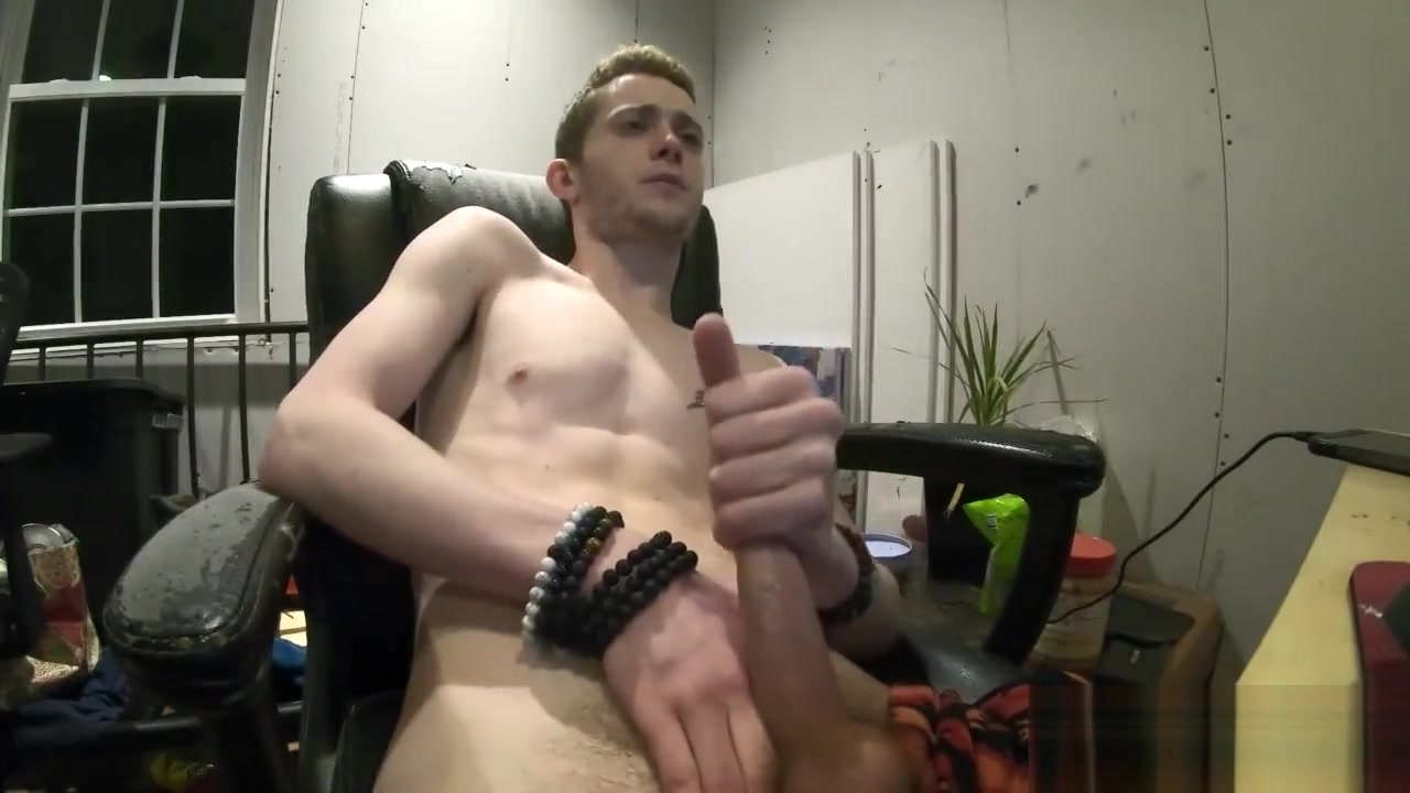 Straight Blonde Boy Watching Porn Cum On His Tattooed Chest Girls and hot sex
