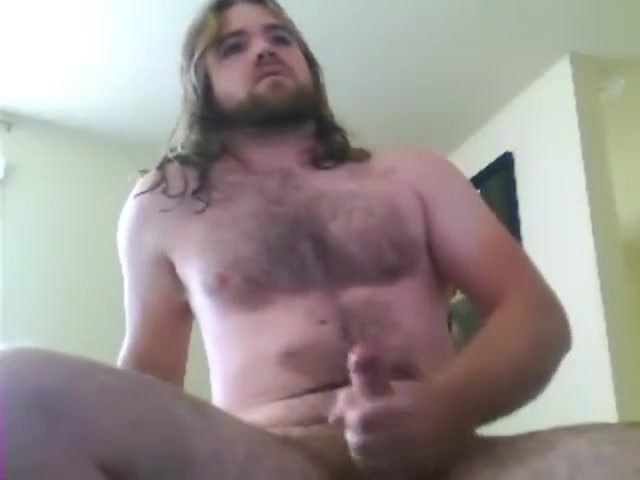 Beefy, bearded, hairy, uncut, longhaired, blue collar, stud cums on cam #10 Miya Sunset