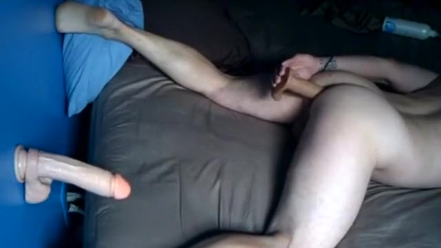 Fucking with dildos in daybed husband cuckold cleanup creampie 2