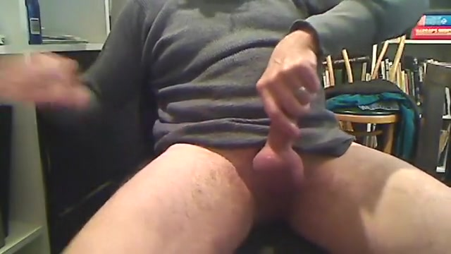 dad stroking Standing up masturbation