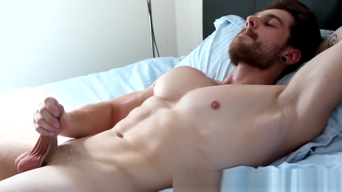 Alluring bearded gay man grabs his massive dick and wanks Nude Fake Celeb Pics
