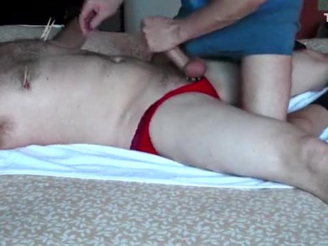 Wench man in red pants - part I Veronica da souza stockings