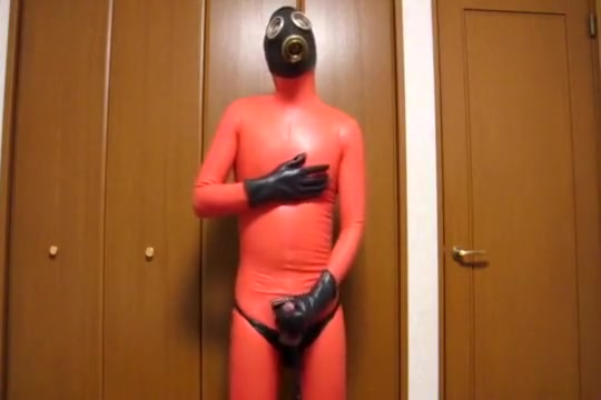 Red rubber catsuit with gas mask_2 Hyderabad aunty nude pics