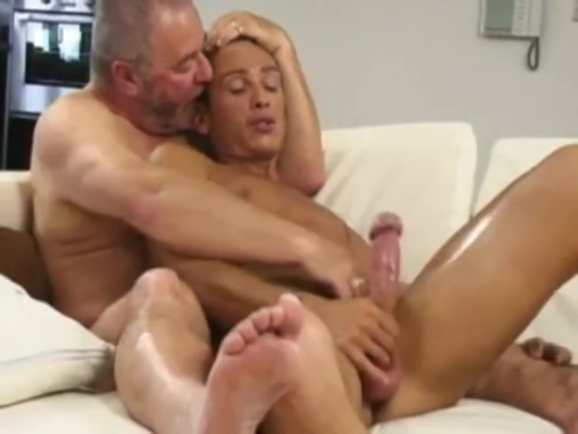 Hot daddies part 1 Girl filled with whipped cream