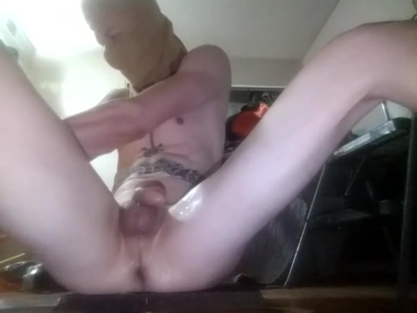 Skinny boy toy riding Pee or piss drinking catlist