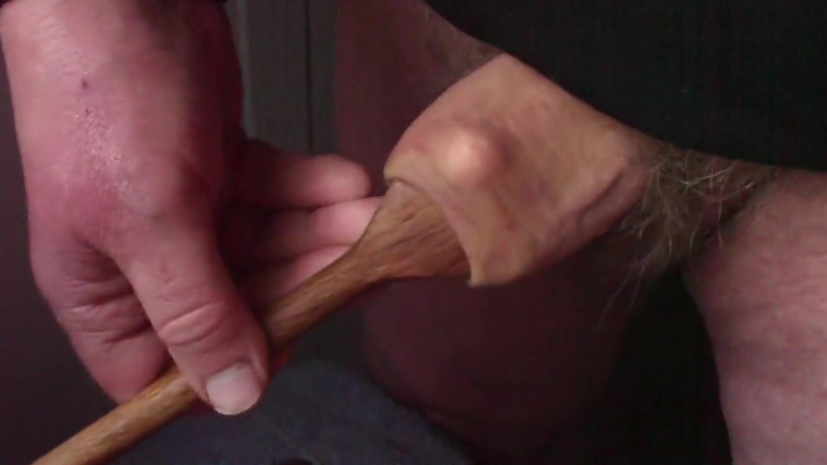 Wooden spoon foreskin with 7 ball bearings Wet and Wild Squirting Threesome