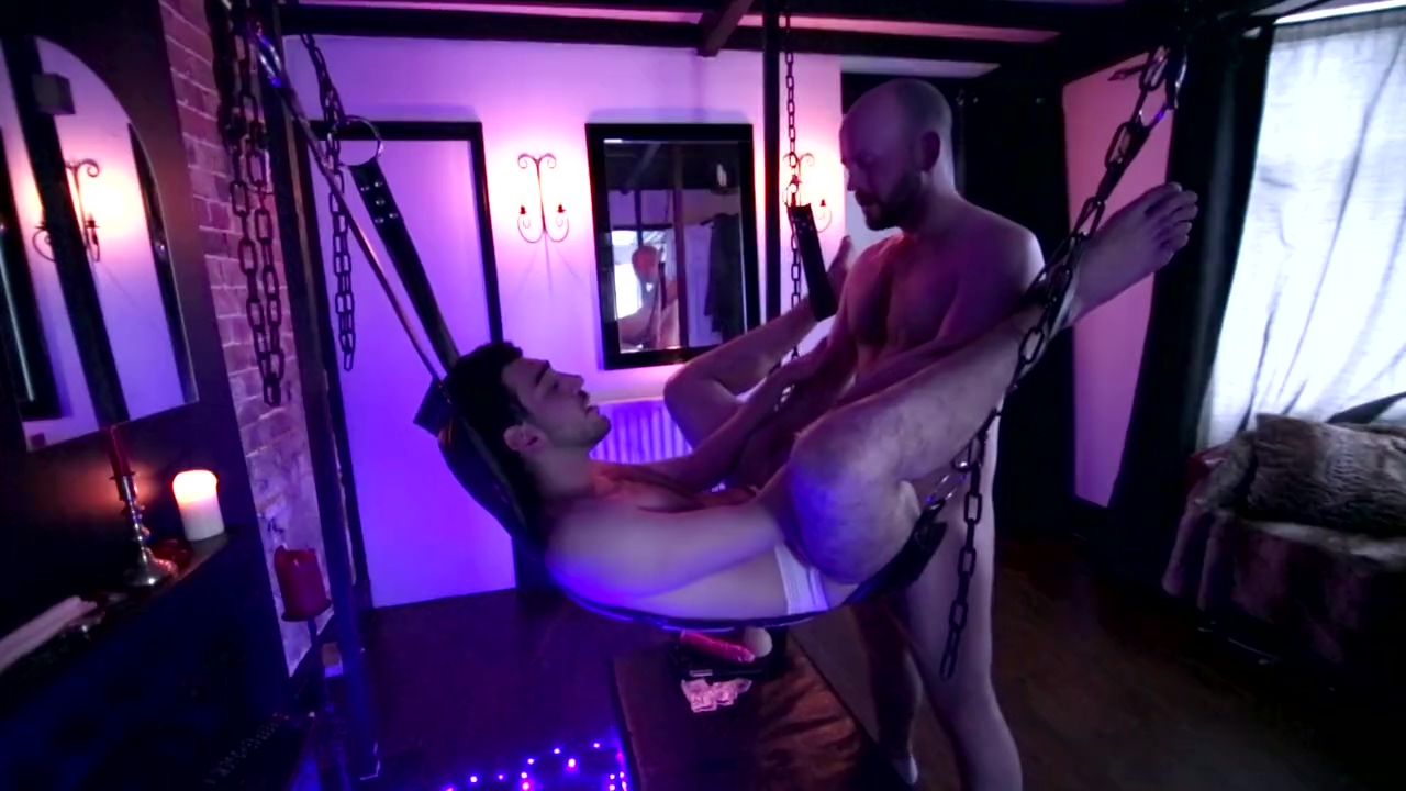 Daddy gives his new boy a ride in his sling Las vegas adult vieo arcade