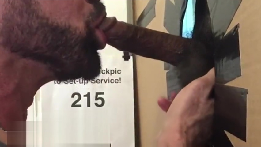 Young Black Bull Gets Deepthroated, Sucked, Swallowed at Philly Glory Hole tv show with gay son
