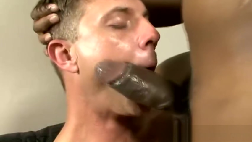 Submissive white boy Kody Rean sucks massive black dick blow job outside in snow