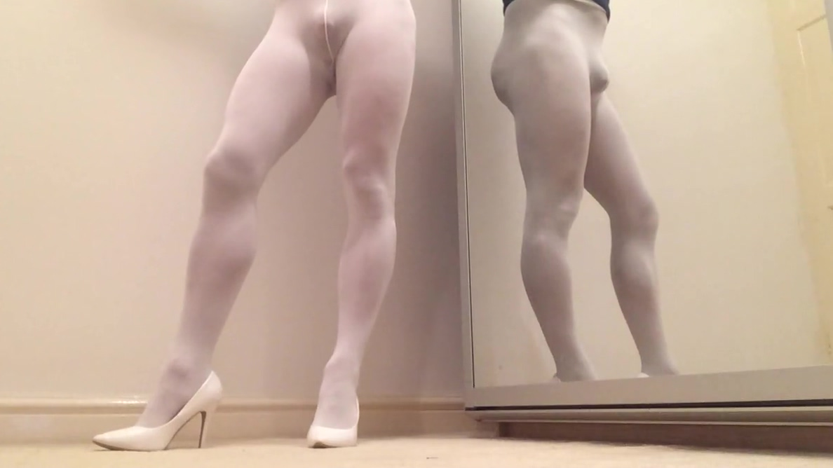 All in white . naked anime girl moving picture