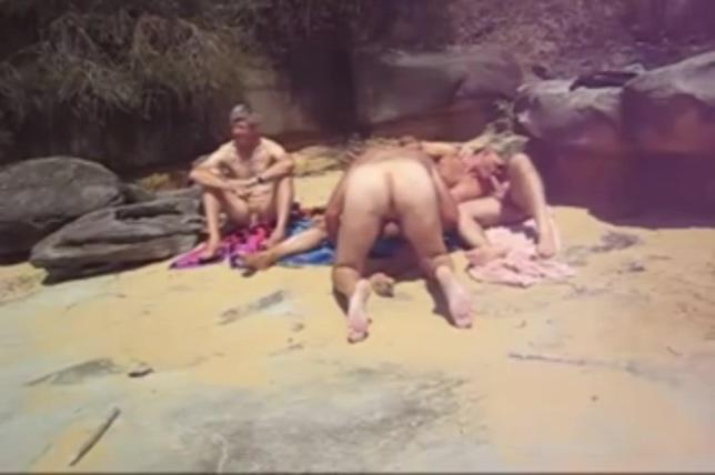 Beach Sex Gay 1 presents mature ebony jastars hairy pussy 2