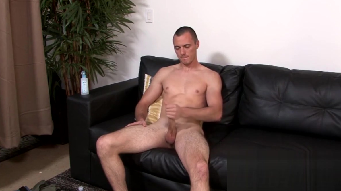 Cute military stud jacks off his cock in front of a camera sex with love porn