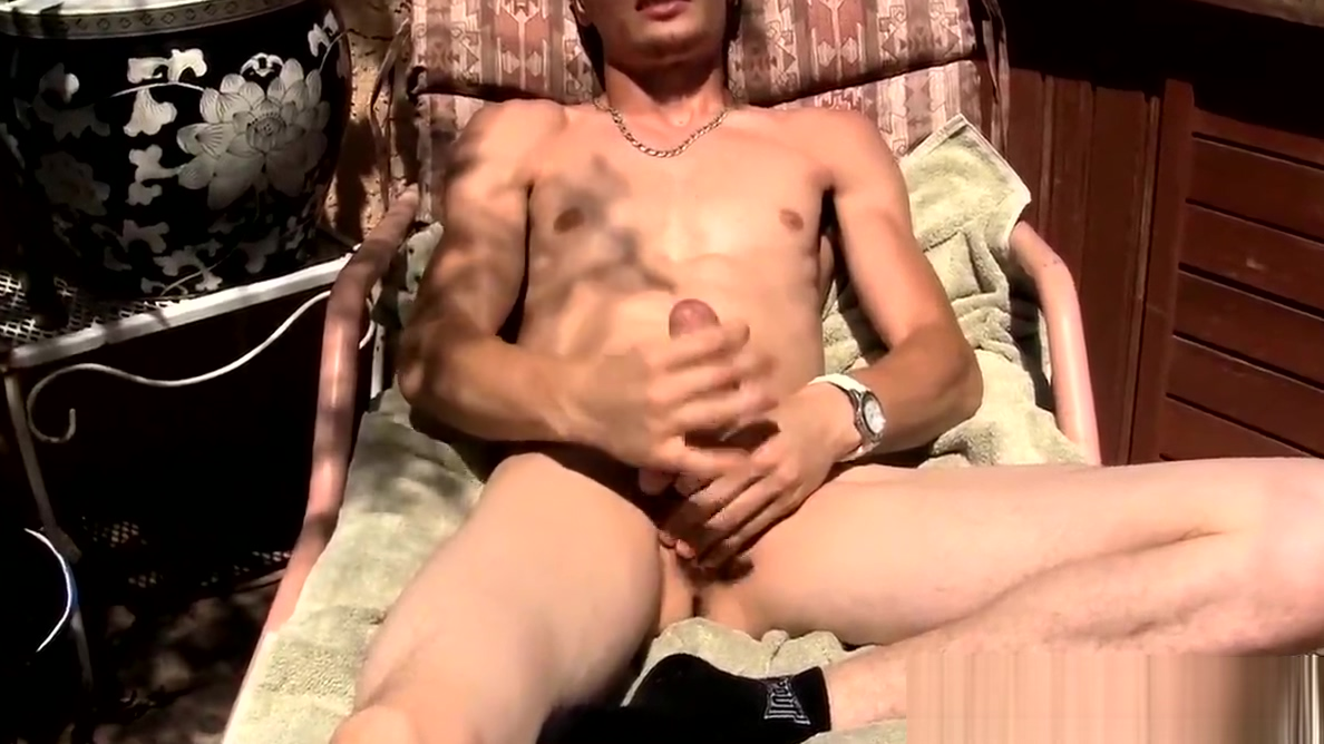 Sweet Adam Hess wanking in sunlight while lying outdoors Milf banged by stud porngifs
