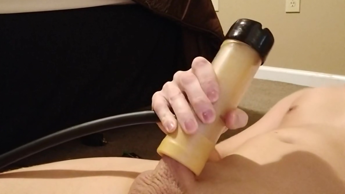 Milking My Dick With The Venus 2000 Sex Machine Until Cum Big Tits Pregnant Ebony Chick Fucking Sideways