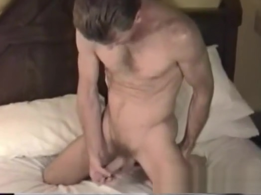 Mature Amateur Craig Jacking Off leaking silicone breast implant