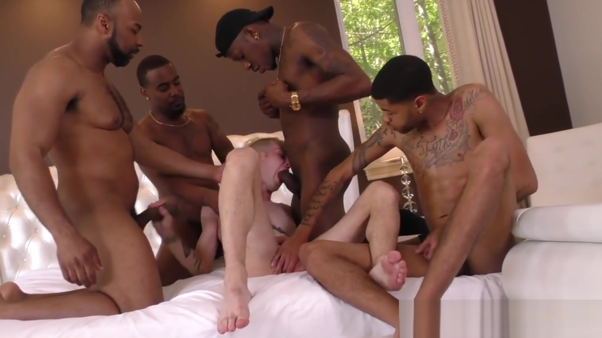 Black guys sharing a white bois ass Claudia Valentine Rilee Marks