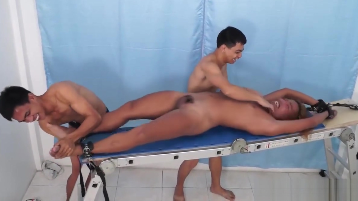 Hunter Strapped Down and Tickled Porn vaginal sex gif