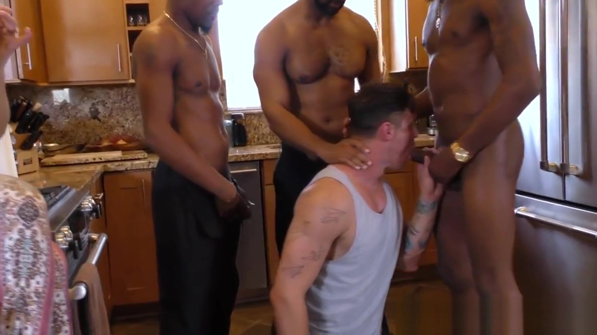 Pale guy gangbanged in front of her Wife Brute force latest version