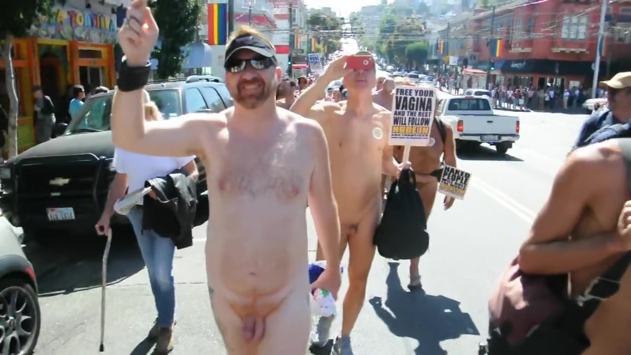 NUDE PROTEST IN THE CASTRO STREET Home grown wife porn