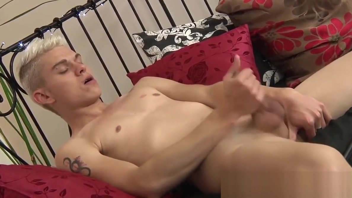 Yummy twink Titus Snow stroking cock during photoshoot adult manga video game