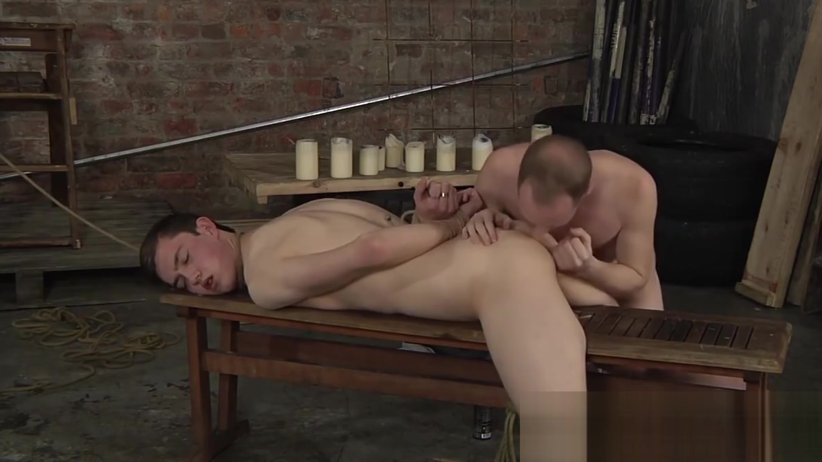 Bound twink gagging on massive maledom cock Game of thrones sex gif