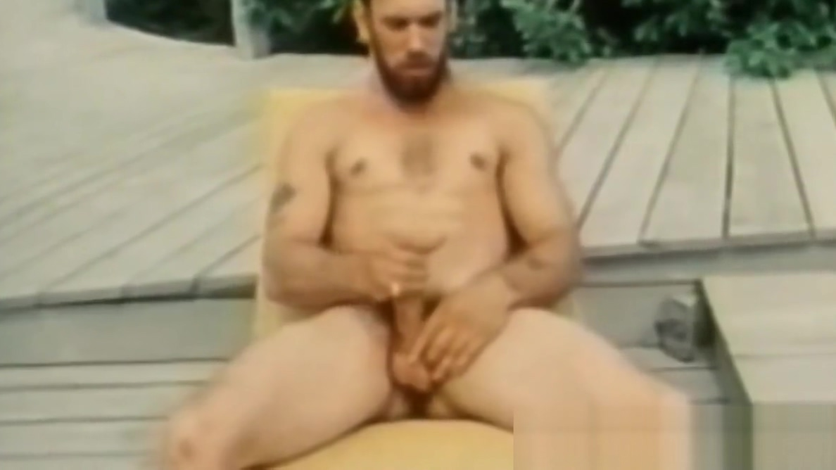Bearded vintage homo strokes while his butt buddies blow Nude gay athletes fucking
